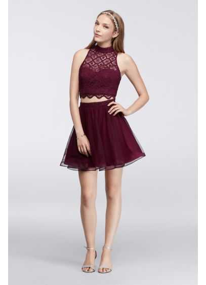 Short Ballgown Halter Cocktail and Party Dress - My Michelle