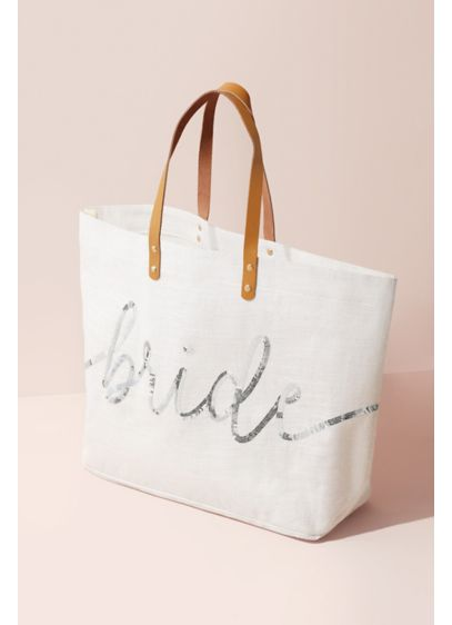 Sparkle Sequin Script Bride Tote Bag - Wedding Gifts & Decorations
