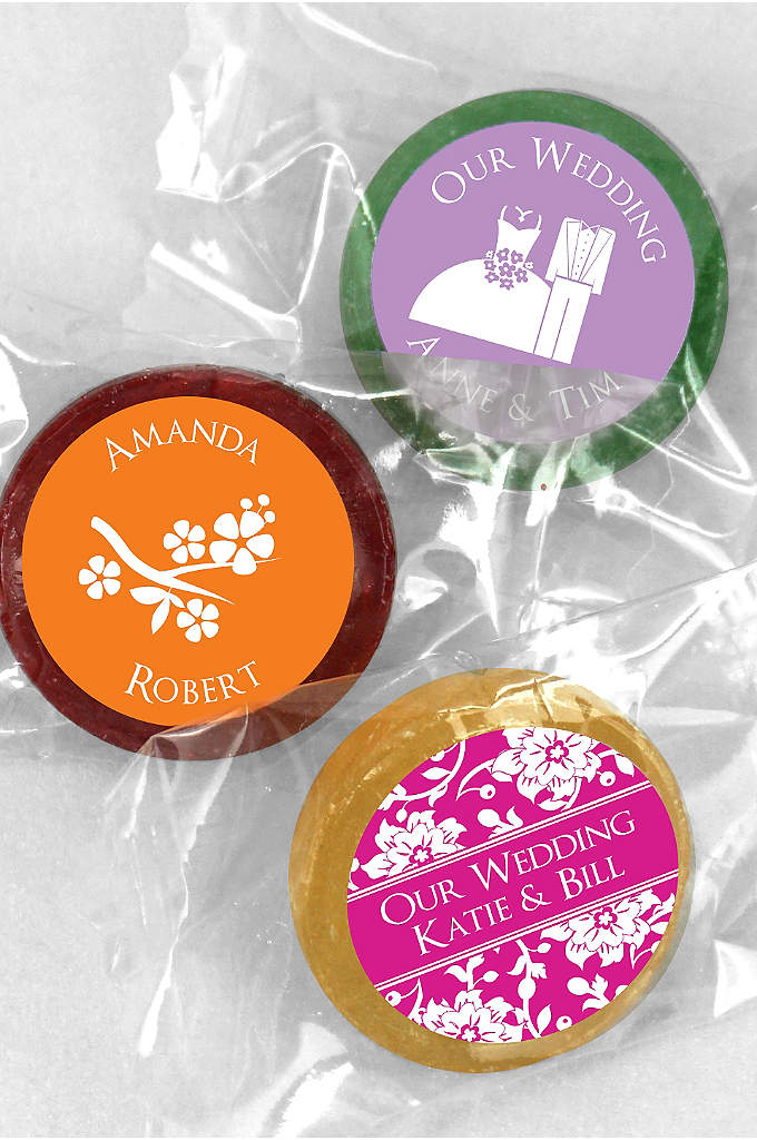 DB Exclusive Personalized Life Savers Candy Favors - Each individually wrapped Life Savers comes personalized with