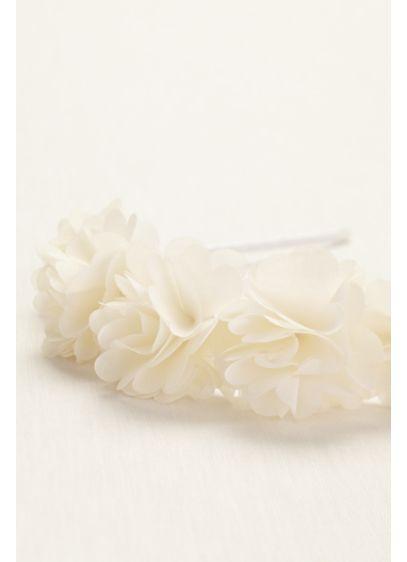 Flower Girl All Around Fabric Floral Hard Headband - Wedding Accessories