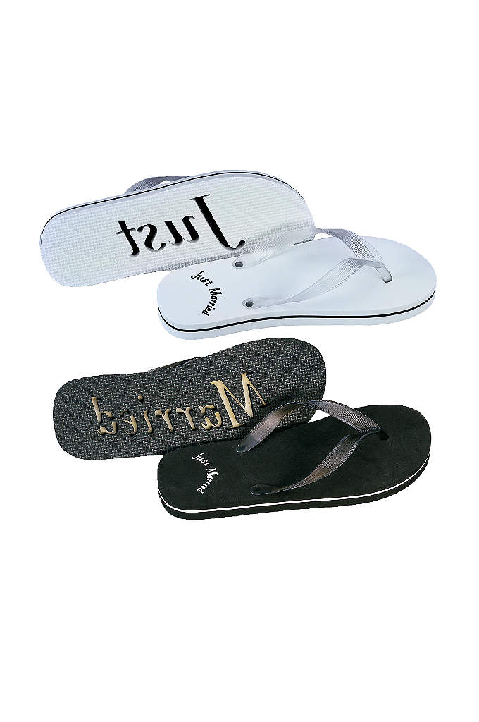 Just Married Sandals For Him and Her - Create