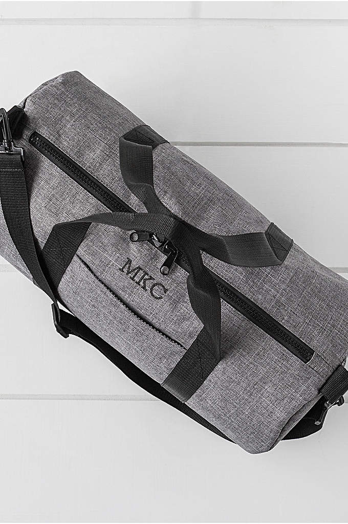 Personalized Grey Duffle - Great for trips to the gym or weekend