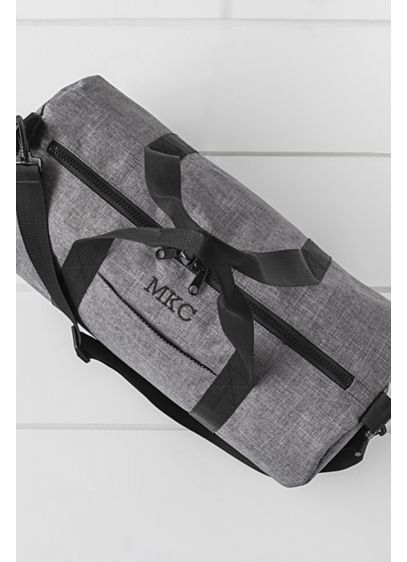 Personalized Grey Duffle - Wedding Gifts & Decorations