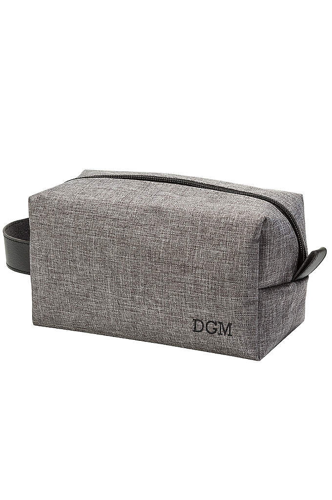 Personalized Grey Dopp Kit - An ideal travel companion for the man on