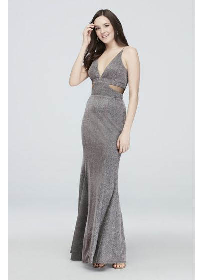 Long Sheath Spaghetti Strap Cocktail and Party Dress - Haute Nites