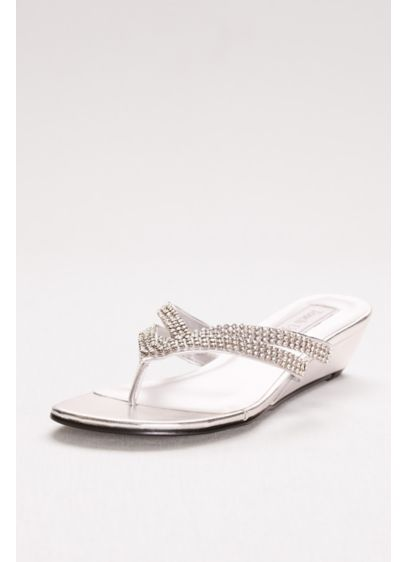 4f275e7de71d Tango Low Wedge Crystal Sandals - With straps covered in stones