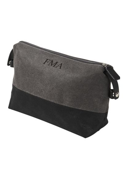 Personalized Two Tone Dopp Kit - The Personalized Two-toned Dopp Kit is the ideal