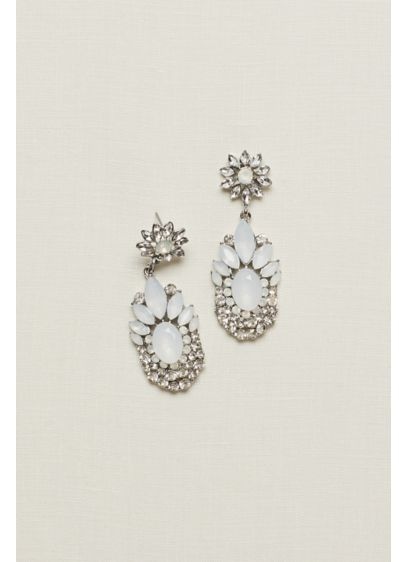 Multi-Stone Faceted Chandelier Earrings - Wedding Accessories