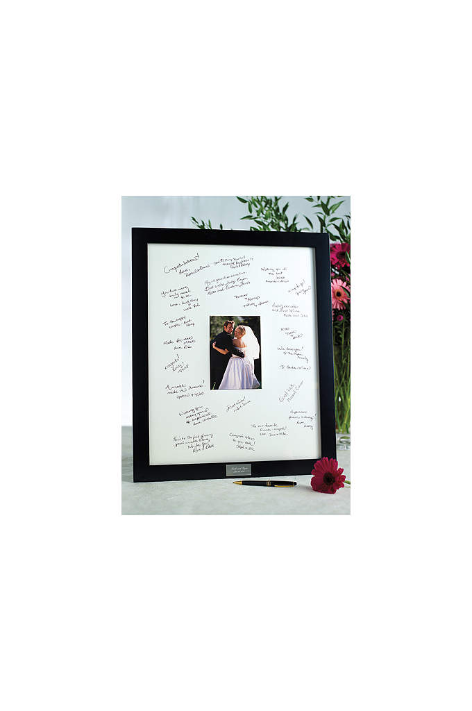 Personalized Guest Book Frame for Reception - Make your wedding reception special and memorable with