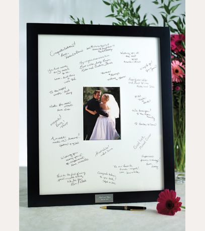 Personalized Guest Book Frame For Reception Davids Bridal