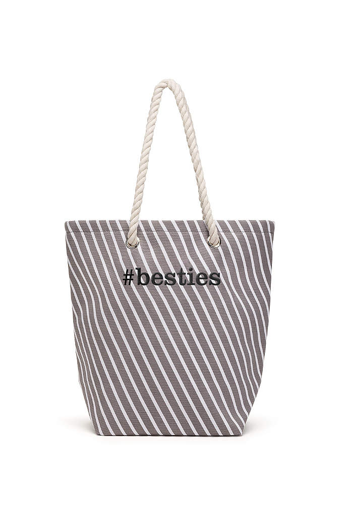 Personalized Stripe Cabana Tote