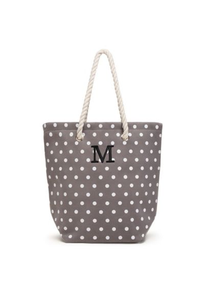 Personalized Polka Dot Cabana Tote - Totes adorable! Fun and functional with 11-inch rope