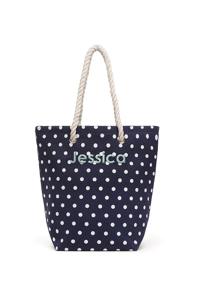 Personalized Polka Dot Cabana Tote