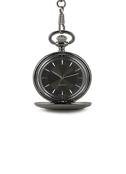 Personalized Satin Gunmetal Pocket Watch - Wedding Gifts & Decorations