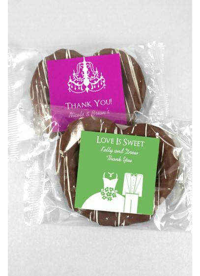DB Exc Personalized Gourmet Chocolate Pretzels - Wedding Gifts & Decorations