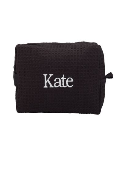 Personalized Waffle Weave Cosmetic Bag - Wedding Gifts & Decorations