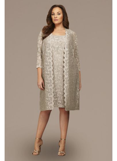Short 0 3/4 Sleeves Dress - Alex Evenings