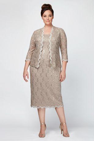 Long Sheath Jacket Dress - Alex Evenings