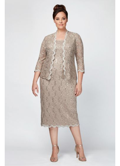 Long Sheath Jacket Cocktail and Party Dress - Alex Evenings