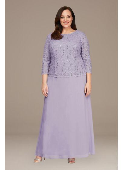 Long A-Line 3/4 Sleeves Formal Dresses Dress - Alex Evenings