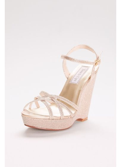 Touch Ups Grey (Jaden Shimmer Quarter Strap Wedge Sandals)