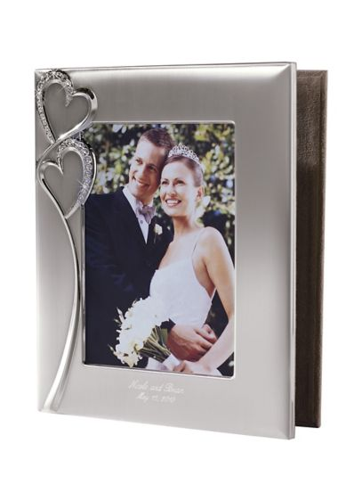 Personalized Twin Hearts Photo Album - Wedding Gifts & Decorations