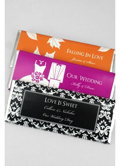 DB Exclusive Personalized Hersheys Chocolate Bar - Personalized Hershey's Chocolate wedding favors bring a dramatically