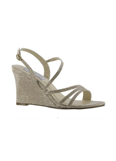 Touch Ups Grey (Phyllis Shimmer Strappy Wedge Sandals)