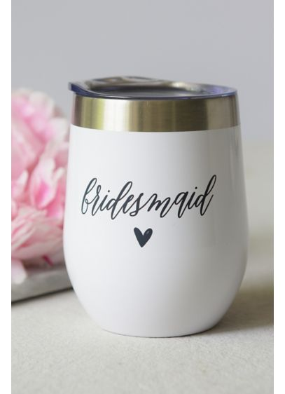 (Bridesmaid Stainless Steel Wine Tumbler)