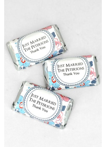 Personalized Floral Pattern Hersheys Miniatures - Personalized Hershey's Miniatures are chocolate wedding favors that