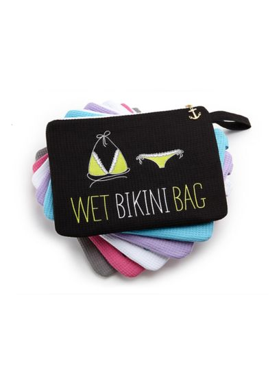 Personalized Waffle Wet Bikini Bag - Wedding Gifts & Decorations