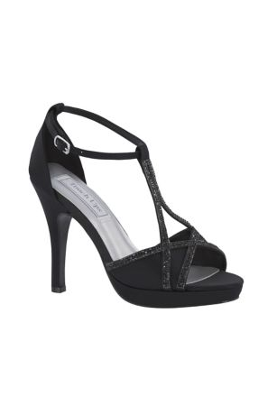 Touch Ups Black;Grey;Ivory (Harlow Shimmer Peep-Toe Heels with Rhinestones)