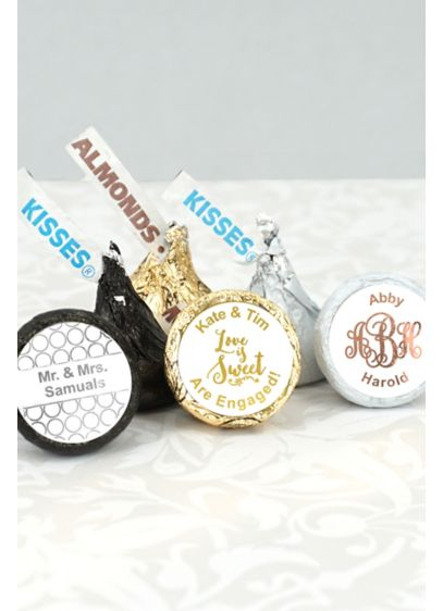 Metallic Foil Hersheys Kisses Favors - Personalize your wedding with a kiss! These Hershey's