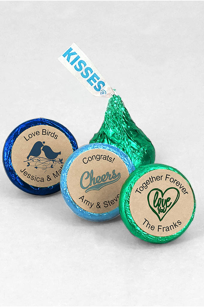 Personalized Kraft Colored Foil Hershey Kisses - Hard to resist, Hershey Kisses are the quintessential