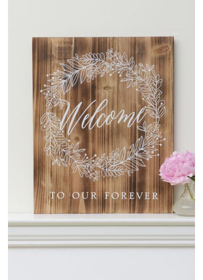 Brown (Welcome To Our Forever Wood Sign)