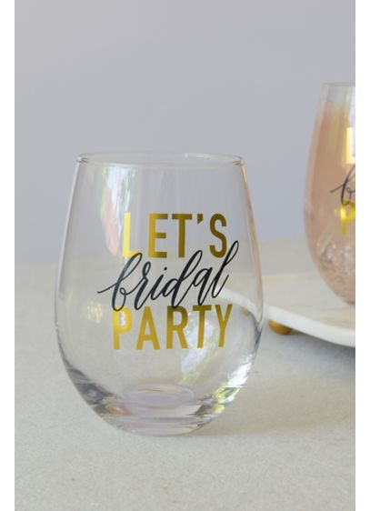White (Bridal Party Stemless Wine Glass)