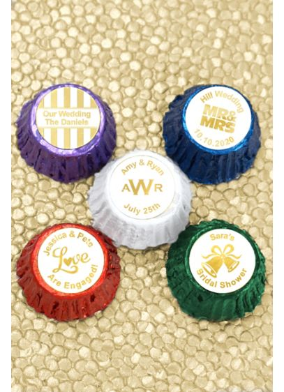 Metallic Foil Hershey's Reese's Cups - Personalize your wedding with a sweet treat! These