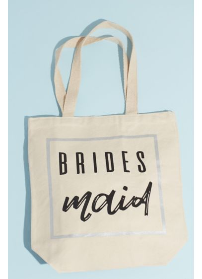 Canvas Bridesmaid Carry-all Open Tote - Show your