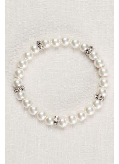 David's Bridal Grey (Pearl and Crystal Alternating Bracelet)