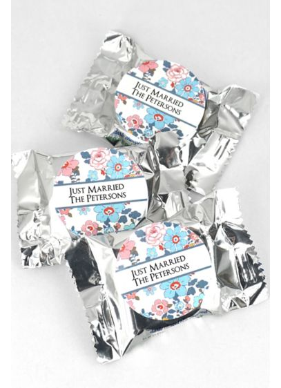 Personalized Floral Pattern York Peppermint Pattie - Spread the soothing sensation of cool, refreshing peppermint