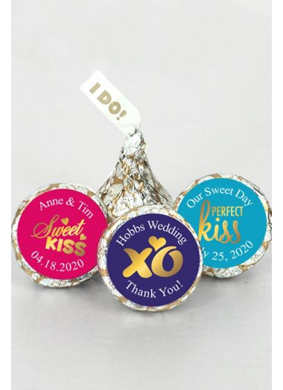 Pers Shimmering Love I DO Plume Hershey's Kisses - Our Personalized Shimmering Love