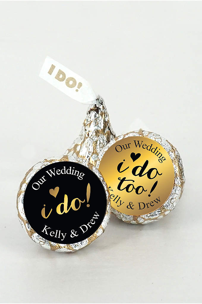 Pers Shimmering Love I DO Kisses Set of - Our Personalized Shimmering Love
