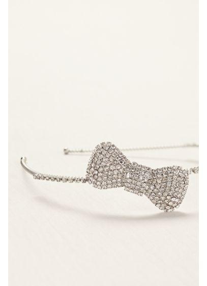 Rhinestone Side Bow Motif Headband - Wedding Accessories