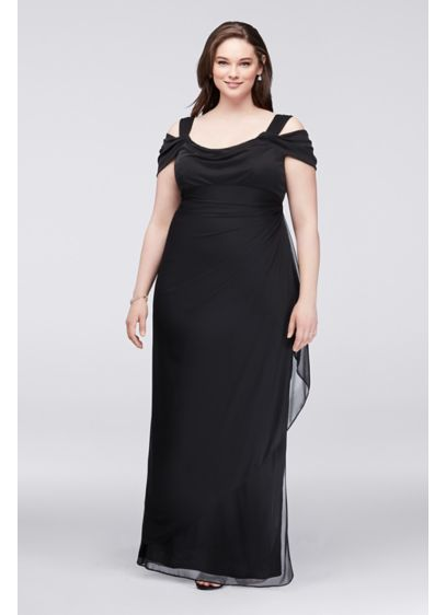 Long Sheath Off the Shoulder Cocktail and Party Dress - Alex Evenings