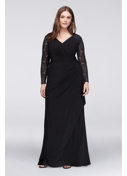 Long A-Line Long Sleeves Formal Dresses Dress - Alex Evenings