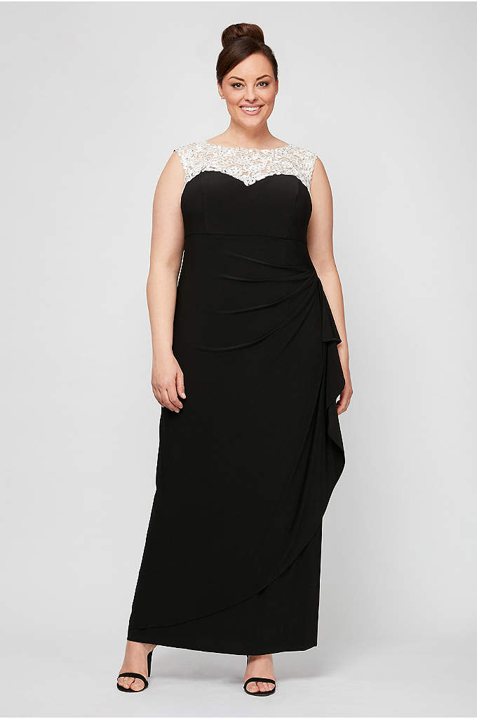 Matte Jersey Plus Size Dress with Embellishment