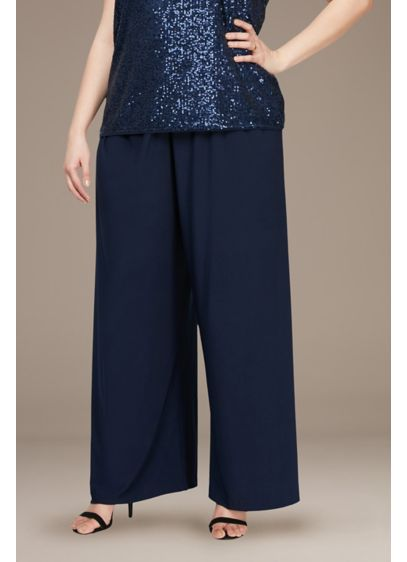Stretch Matte Jersey Wide Leg Plus Size Pants - A timeless (and effortless!) pair of stretch jersey