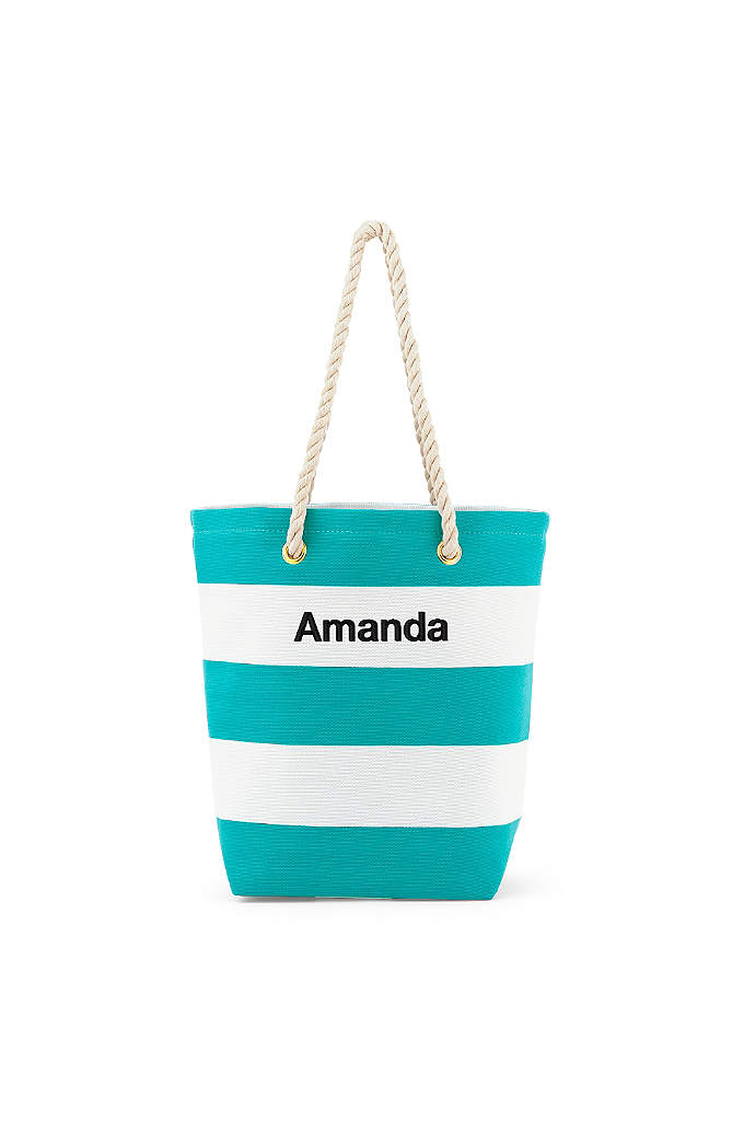 Personalized Bliss Striped Tote