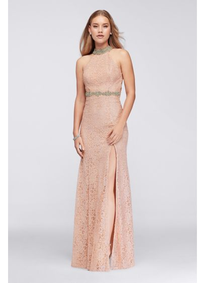 Long Sheath Halter Formal Dresses Dress - My Michelle