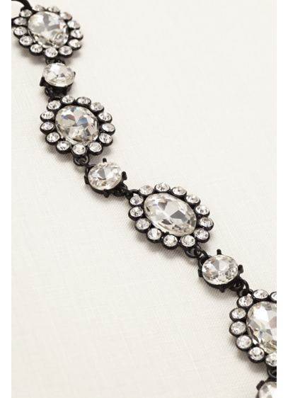 Large Crystal Circle Stretch Headband - Wedding Accessories